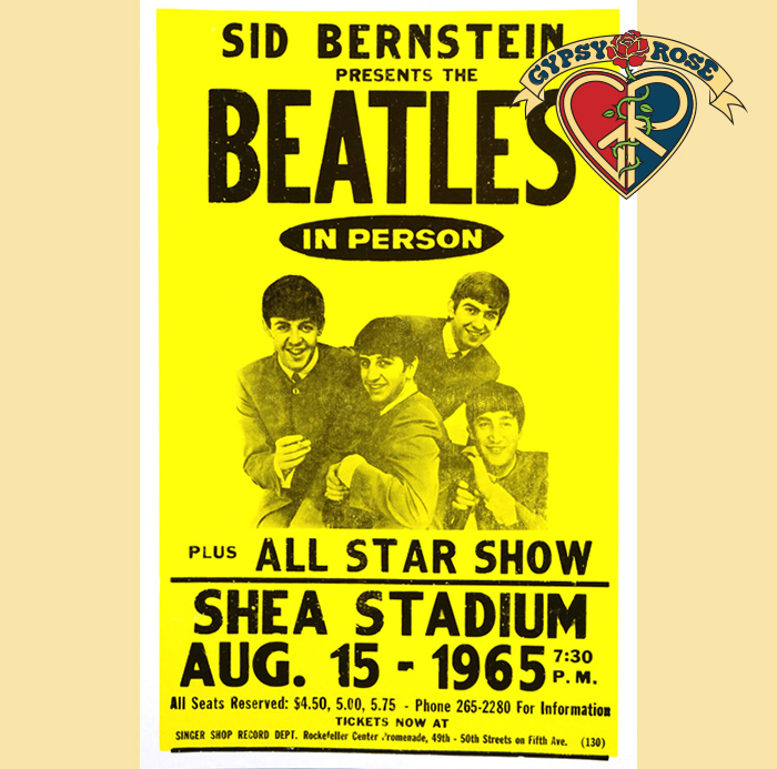 The Beatles At Shea Stadium Concert Poster Gypsy Rose