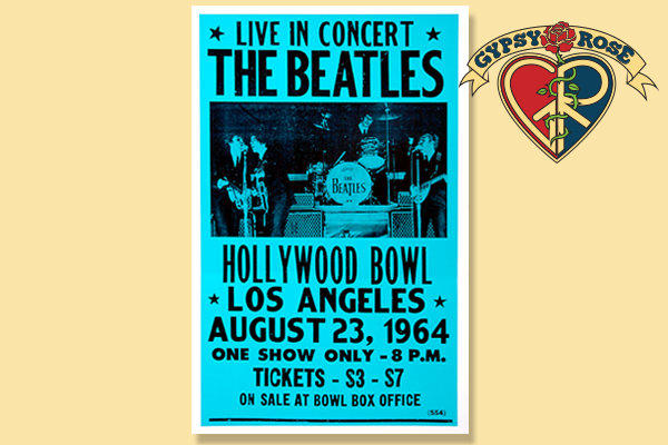 THE BEATLES AT HOLLYWOOD BOWL CONCERT POSTER