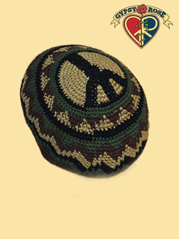 Peace Patrol Crochet Skull Cap Gypsy Rose