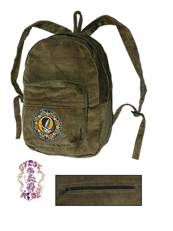 7e5a91b27c GRATEFUL DEAD CORDUROY TRIBAL STEAL YOUR FACE BACKPACK