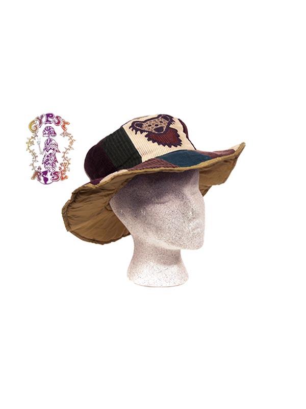 GRATEFUL DEAD PATCHWORK CORDUROY HAT WITH DANCING BEAR APPLIQUE  sc 1 st  Gypsy Rose & GRATEFUL DEAD PATCHWORK CORDUROY HAT WITH DANCING BEAR APPLIQUE ...