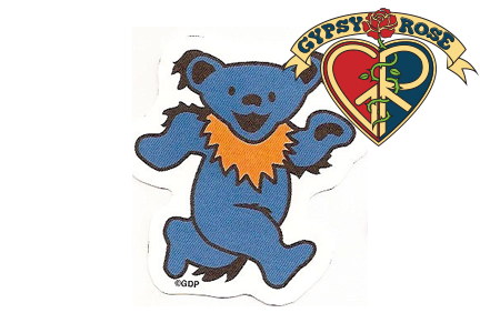 5 PACK ASSORTED MINI GRATEFUL DEAD DANCING BEARS STICKERS