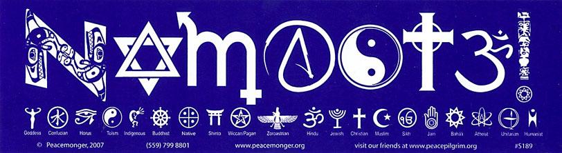 Namaste In Faith Symbols Bumper Sticker Gypsy Rose
