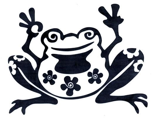Flower Frog Cutout Rob On Sticker Gypsy Rose