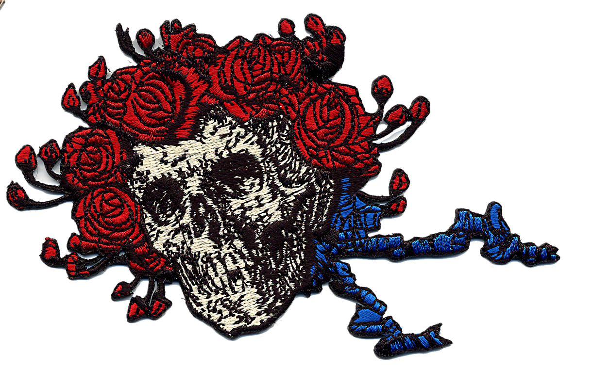 the grateful dead skull u0026 roses head only patch gypsy rose