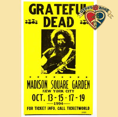 Grateful Dead Madison Square Garden Concert Poster Gypsy Rose