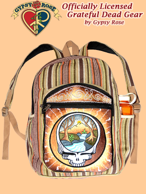 Grateful Dead Steal Your Mountain Stream Hand Embroidered Gheri Backpack