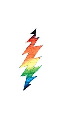 Grateful Dead Batik Lightning Bolt Window Sticker Gypsy Rose