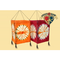 FOUR SIDED TYE DYE LOKTA PAPER LANTERN