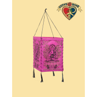 Enlightened Blessings 4 Sided Paper Lantern