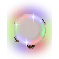 LIGHT UP ROUND TAMBOURINE