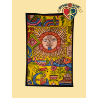 Mexicali Sun God Brush Stroke Tapestry
