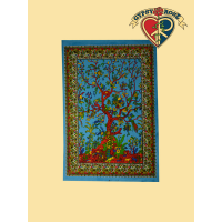 Tree Of Life Printed Cotton Wall Hanging