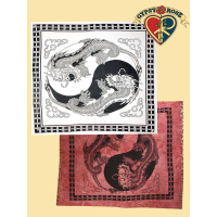 DRAGON YIN YANG FULL TAPESTRY - BEDSPREAD