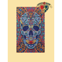 3D Voodoo Child Skull Tapestry
