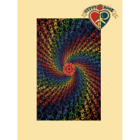 3D Spiral Rainbow Skeletons Infinity Tapestry