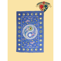 DOLPHINS YIN YANG TWIN TAPESTRY - BEDSPREAD