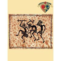 WACKY WARRIORS TWIN TAPESTRY - BEDSPREAD