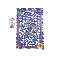 GRATEFUL DEAD DANCING BEARS AROUND WORLD TWIN TAPESTRY - BEDSPREAD