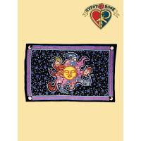 PSYCHEDELIC DREAMING SUN TWIN TAPESTRY - BEDSPREAD