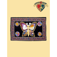 SUN, MOON & LADY BUTTERFLY TWIN TAPESTRY - BEDSPREAD