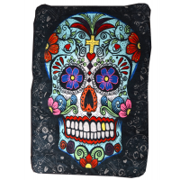 Day Of The Dead Big Skull Throw Blanket