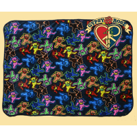 Grateful Dead Dancing Bear Jumble Throw Blanket