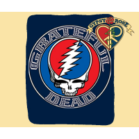Grateful Dead Steal Your Face Aztec Throw Blanket