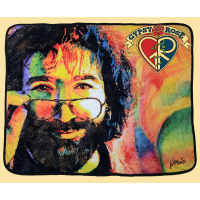 Grateful Dead Jerry Garcia Face Art Throw Blanket