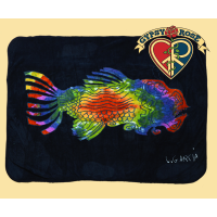 Grateful Dead Jerry's Fish Jerry Garcia Artwork Throw Blanket