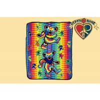 GRATEFUL DEAD DANCING BEAR FLEECE TYE DYE THROW