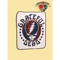 Grateful Dead Steal Your Face Paisley Throw