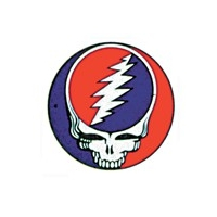 GRATEFUL DEAD STEAL YOUR FACE SMALL 1 5/8 IN WINDOW STICKER