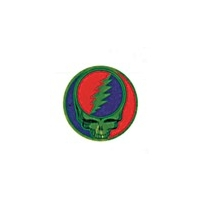 GRATEFUL DEAD STEAL YOUR FACE MEDIUM METAL 1 5/8 IN STICKER