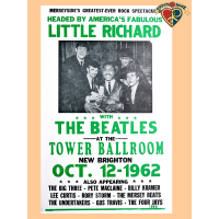 Little Richard The Beatles 1962 Poster