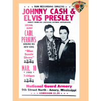 Johnny Cash Elvis Presley Poster
