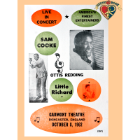 Sam Cooke, Otis Redding, Little Richard Live In Concert Poster