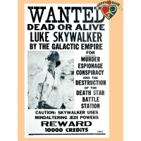 Luke Skywalker Wanted Poster