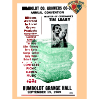 Humboldt Co. Growers 1969 Poster