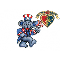 GRATEFUL DEAD DANCING BEAR AS UNCLE SAM STICKER