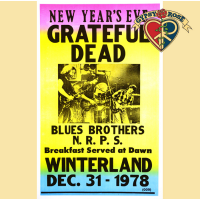 GRATEFUL DEAD NEW YEARS 1978-1979 CONCERT POSTER