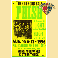 "PHISH ""THE CLIFFORD BALL"" NY 1996 CONCERT POSTER"