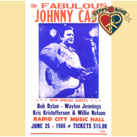 THE FABULOUS JOHNNY CASH CONCERT POSTER