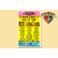 ROCK & ROLL HALL OF FAME CLEVELAND STADIUM CONCERT POSTER