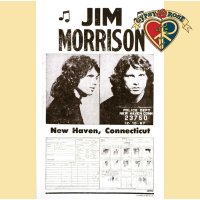 JIM MORRISON OF THE DOORS NEW HAVEN MUG SHOT POSTER