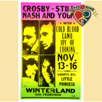 CROSBY STILLS NASH & YOUNG AT WINTERLAND CONCERT POSTER