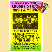 CSNY CROSBY STILLS NASH & YOUNG SUMMER JAM 1974 CONCERT POSTER