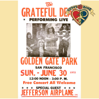 GRATEFUL DEAD GOLDEN GATE PARK CONCERT POSTER