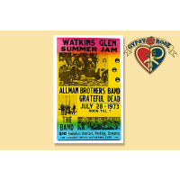 THE GRATEFUL DEAD, THE ALLMAN BROTHERS BAND & THE BAND AT WATKINS GLEN CONCERT POSTER