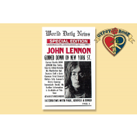 LENNON WORLD DAILY NEWS SPECIAL EDITION POSTER
